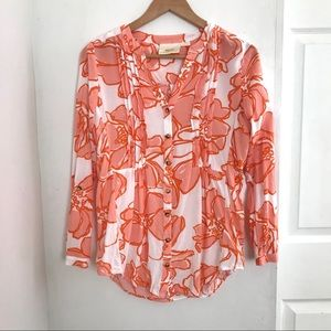 Anthropologie | Floral Button-Down Tunic